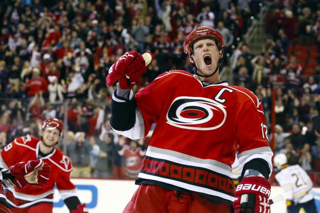 Canes Give Sabres First Loss with Staal's 3 Goals