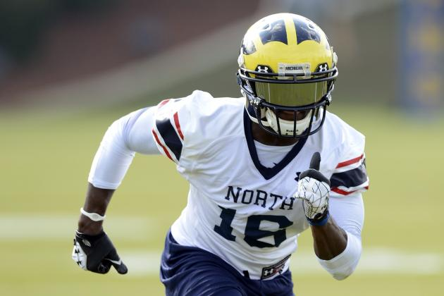Michigan's Denard Robinson Unfazed by Sliding Draft Stock