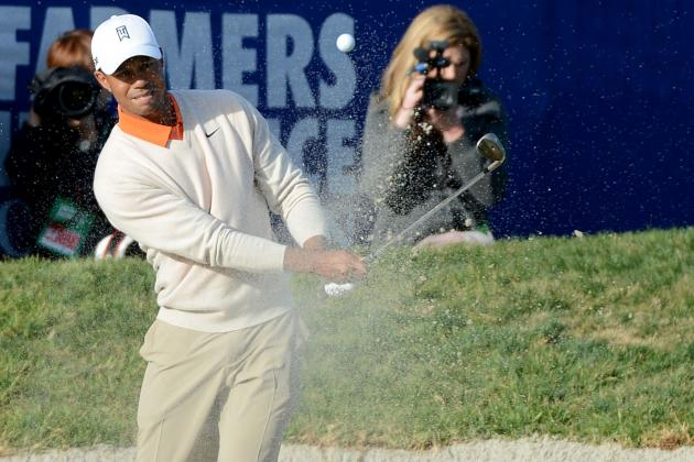 Video: Tiger Eagles out of Bunker at Torrey Pines
