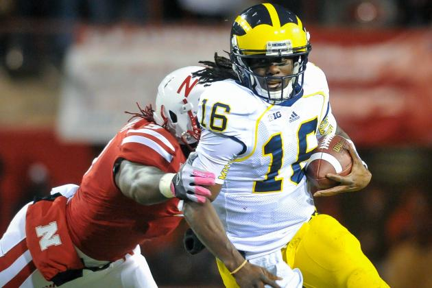 Denard Robinson and Senior Bowl Players Whose Stock Is Falling in Mobile