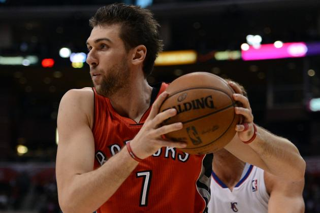 Raptors' Bargnani, Valanciunas Could Return in Couple Weeks