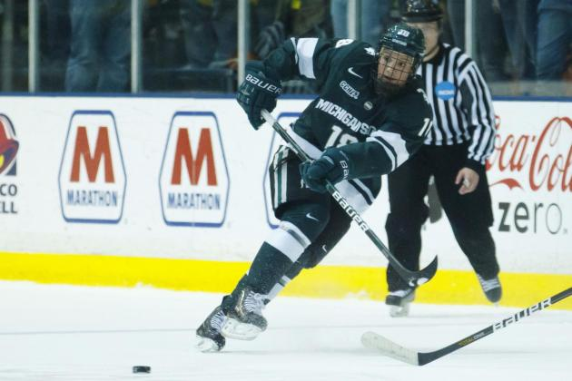 Michigan State Upends Penn State in 1st Hockey Meeting