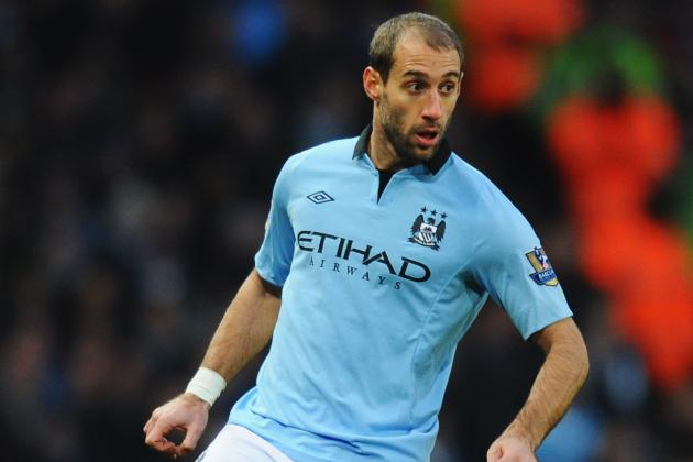 Football: Zabaleta Strikes Late as Man City Edge Past Stoke