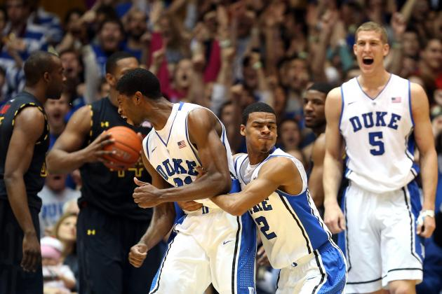 Duke Doesn't Blink, Routs Maryland