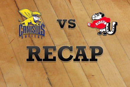 Canisius vs. Rider: Recap and Stats