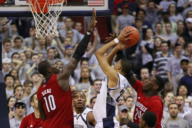 Bowen's Tip Helps Georgetown Upset No. 5 Louisville 53-51