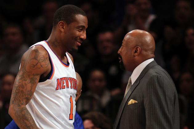 Stoudemire Seems to Be Stuck on Knicks Bench