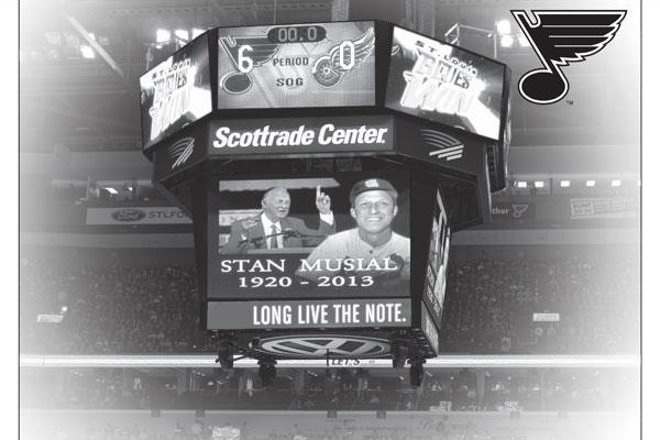 St. Louis Blues Honor Stan Musial with Full-Page Ad, Special Jerseys