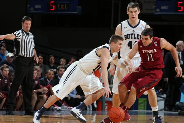 No. 9 Butler 83, Temple 71