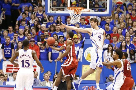 Life of the Party: Jeff Withey's Blocks Highlight of KU's Win over OU
