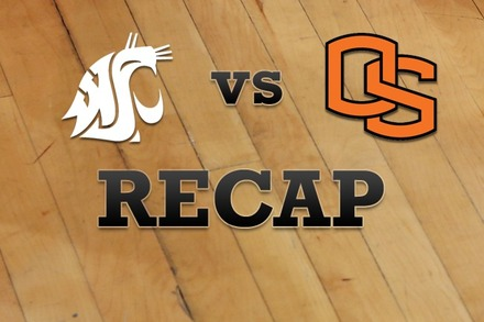 Washington State vs. Oregon State: Recap and Stats