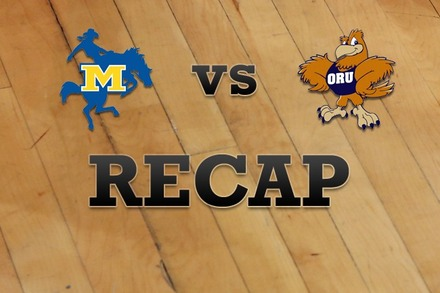 McNeese State vs. Oral Roberts: Recap and Stats