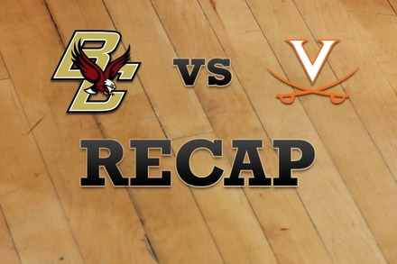 Boston College vs. Virginia: Recap and Stats