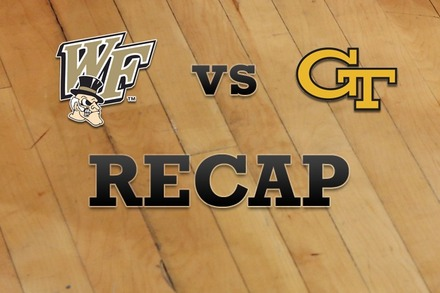 Wake Forest vs. Georgia Tech: Recap and Stats