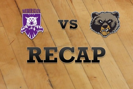 Weber State vs. Montana: Recap and Stats