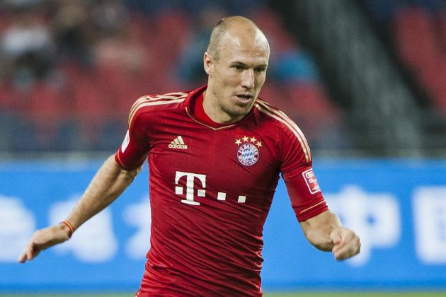 Arjen Robben Begins on Bench vs. Stuttgart