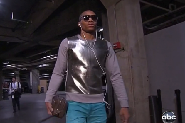 Westbrook Arrives at Arena in This...