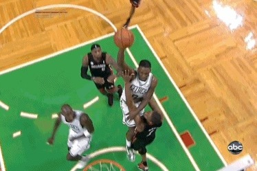 Jeff Green's Huge Slam over Bosh