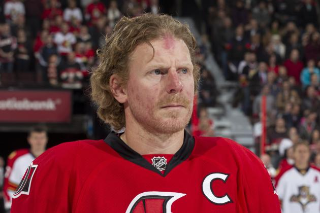 Daniel Alfredsson out vs. Penguins with Illness