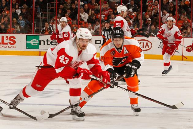 Red Wings Will Be Without Center Darren Helm (back) Tonight vs. #Blackhawks.