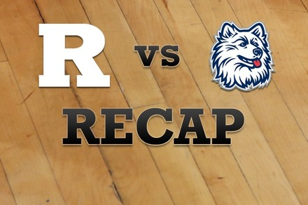 Rutgers vs. Connecticut: Recap and Stats