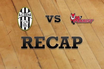 Siena vs. Marist: Recap and Stats