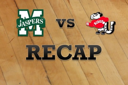 Manhattan vs. Rider: Recap and Stats