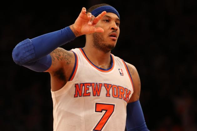 NY Knicks' Carmelo Anthony Hits Nine 3-Pointers