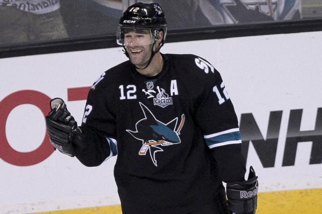 Marleau Held to 1 Goal as Sharks Top Canucks