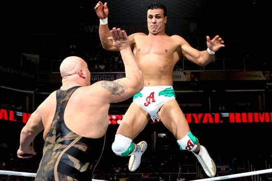 Royal Rumble 2013: Alberto Del Rio and Big Show Wrestle in Great Opening Match