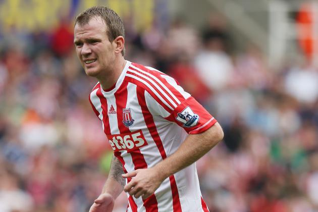 Stoke Midfielder Glenn Whelan Gets Away with Horror Challenge