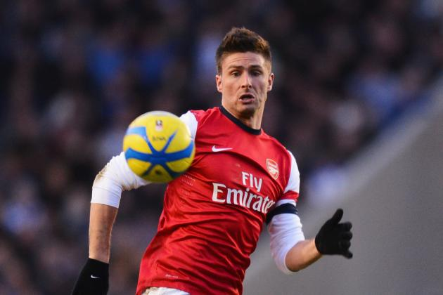 Arsenal Striker Olivier Giroud Enjoying Premier League Life with the Gunners