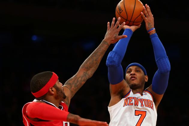 Watch 'Melo Drain Threes, Drop 42 on Hawks (VIDEO)