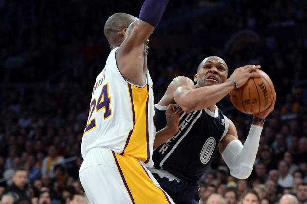 Russell Westbrook, Kobe Bryant Get Chippy