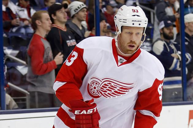 Franzen Recovers from Spearing, Scores First Goal; Brendan Smith Praised