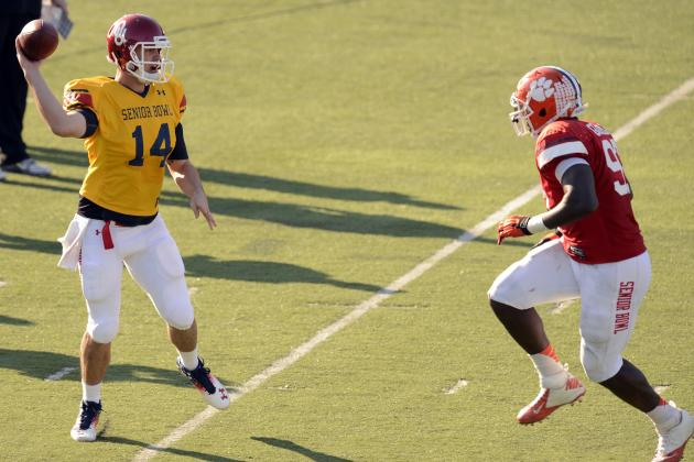 Twitter Reaction to Landry Jones' Struggles at the Senior Bowl