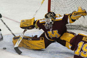 Golden Gophers Sweep Wisconsin While Noora Raty Ties NCAA Wins Record