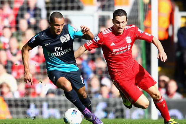 Walcott Predicts 'intense' Clash Against Fourth-Place Rivals Liverpool