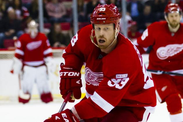 Johan Franzen Needs Teammates to Shoot More