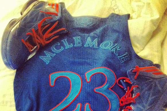 McLemore Posts Photo of Alternate Jerseys for Big Monday