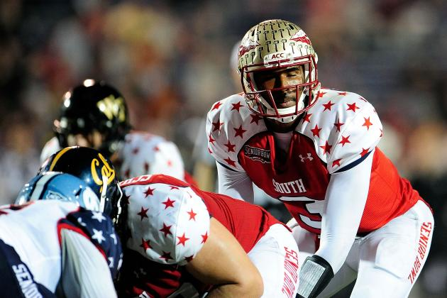 E.J. Manuel Senior Bowl: Assessing QB's Draft Stock After MVP Performance