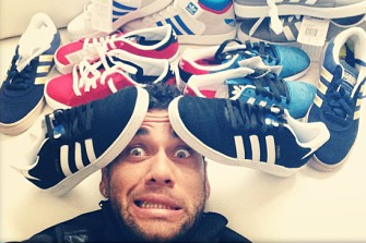 Dani Alves Is Drowning in Shoes on Instagram