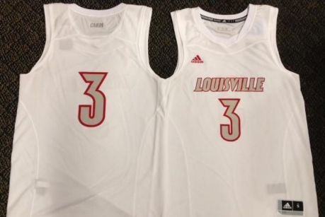 Photo: Louisville's All White Adidas Uniforms for Marquette Game