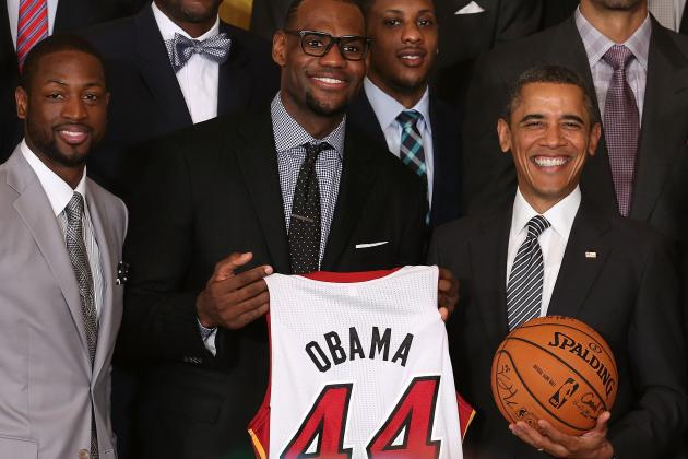 NBA Champs Visit Obama