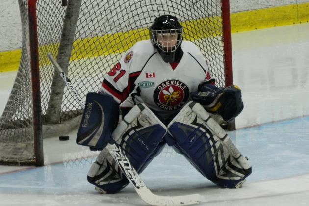 Camille Leonard a Solid Presence Between the Pipes for the Oakville Hornets