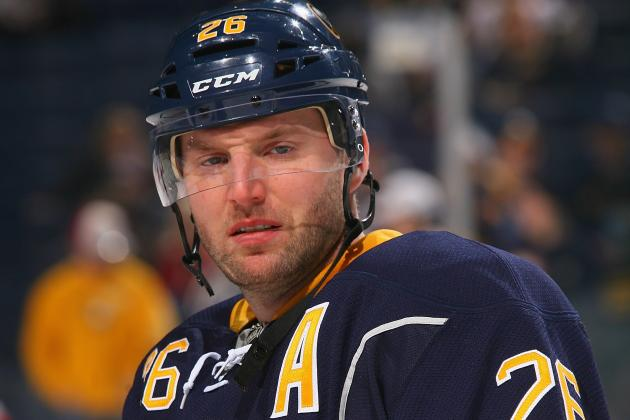 Vanek Returns Tonight vs. Maple Leafs, Regehr out
