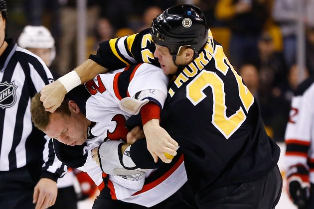 Boston Bruins Post Shootout Victory Over New Jersey Devils