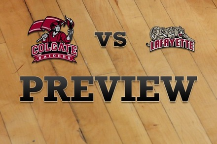 Colgate vs. Lafayette: Full Game Preview