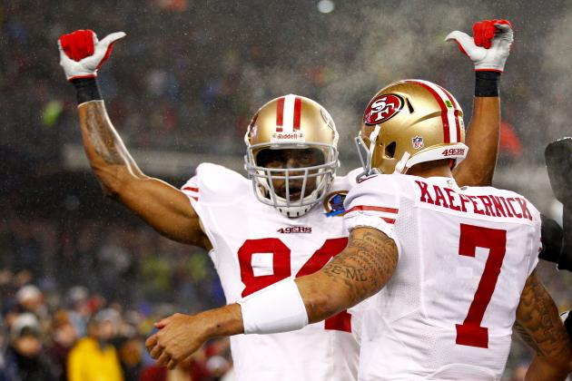 Kaepernick's Fastball No Joke for WR Moss