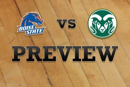 Boise State vs. Colorado State: Full Game Preview